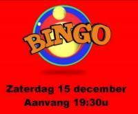 Bingo zaterdag 15 december